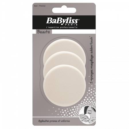 3 Sublim' Touch round make-up sponges - BaByliss